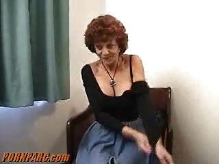 Redhead Granny Milf Blowjob
