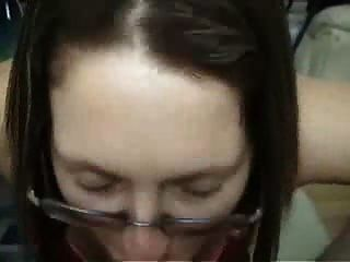 Brunette Amateur Girlfriend With Glasses Gives Blowjob And Ride