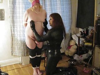 Shemale Blowjob & Facial In Fetish Clothing
