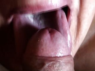Extreme close up blowjob