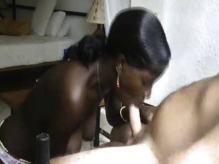 Black Girl Blows Me, Explosive Cum In Her Mouth