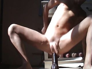 Massive Gay Dildo Masturbation