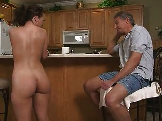 Hot Teen Blows Daddy For Mall Money Massive Cumshot!
