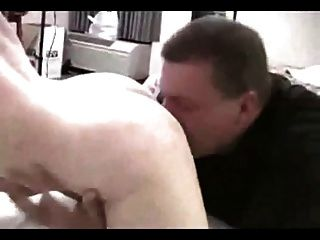 Cuckold Sucks Sloppy Creampie From Wife