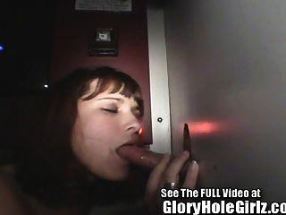 Gloryhole Girl Cindi Sloppy Blowjobs