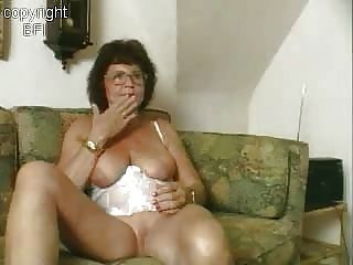 Sweet Granny Masturbating