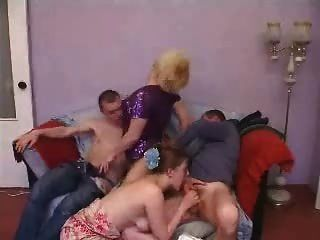 Mature And Young Couple Swinger Group Sex