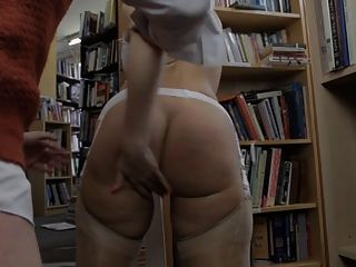 British Slut Paige Gets Fucked In The Bookstore In Stockings
