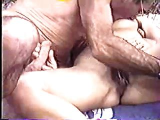 Nasty old lady rubs an hard cock