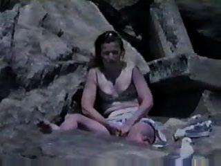 Caught Masturbating At Beach