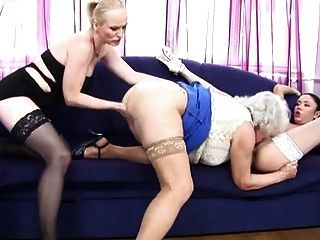 Granny, Mature And Young Lesbians