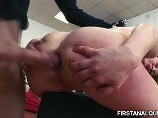 Innocent Teen Girl Takes A Huge Dick Up Her Tiny Asshole