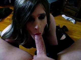 Tranny cum swallow compilation