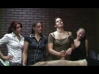 Jerky Office Girls - Cfnm Handjob