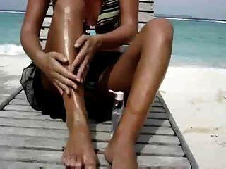 Sexy Wife Masturbating At The Beach