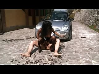 Italian Mature Rough Anal Fucked Hard At Outdoor
