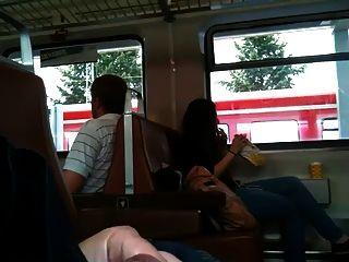Train Flash - A Wholeday Flashing With Cum