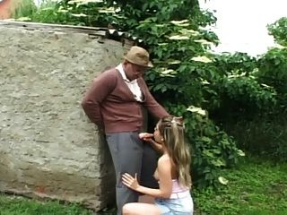 Old Man Fuck Girl In The Garden...usb