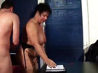 Mature Secretary Gets The Job Done