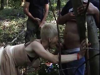 Granny gangbang slut mature
