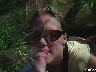 Aneta Chambers Drinks Cum From Condom