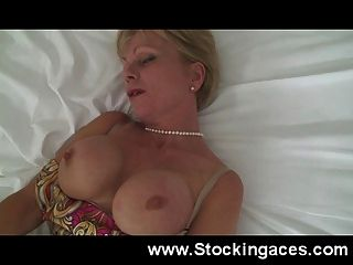 Horny Mature Slut Fucks Herself