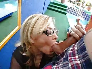 Mature mom young son hamster video