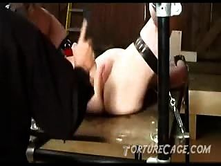 Legs Spread Wide For A Pussy Whipping