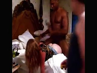 Hubby records white bbw wife with bbc