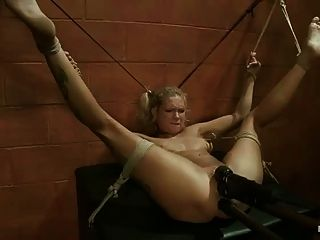 Tied Girl Vibred And Toyed