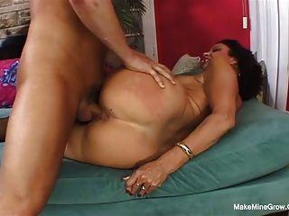 Hot Brunette Vanessa Screwed Her Hairy Pussy