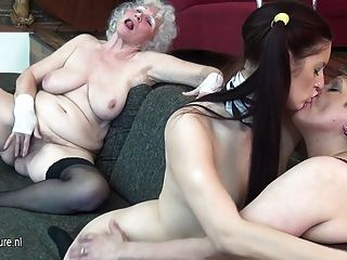 Young Maid Girl Fucks 2 Old Timers