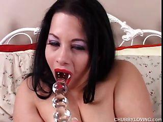 Beautiful Big Tits Brunette Bbw Has A Wet Pussy