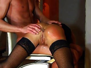 Excellent bdsm spanking vor pisses herself