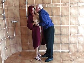 Young Woman With Old Man