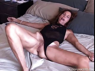 Sexy Older Babe Gets Jizzed On And A Big Dildo In Her