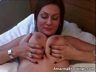 Amateur Cuckold Milf In Black Stockings Nailed By Black Guy