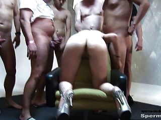 Kinky Blonde Gets Multiple Facials - P2