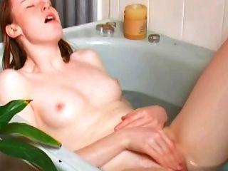 Female orgasm video bath first