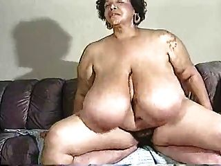 Huge titted plumper tries black meat 5