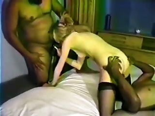 Black Cocks Fuck The White Blonde Wife And Cum Inside