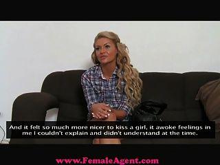 Femaleagent - Reality Tv Babe Tries Porn