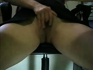 Hairy Thing On Webcam...