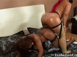 Black lesbians having rough sex