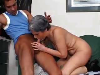Silver grey hair granny anal damn