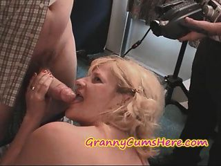 Two Grannies At A Cum Swallowing Party