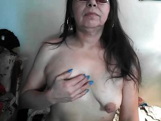 Saggy Puffy Large Nipples Older On Webcam