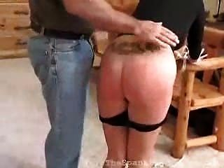Blonde Brat Receives Spanking For Her Disobedience