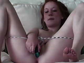 Real Redhead Lucy Pale Skin Pink Tits 18