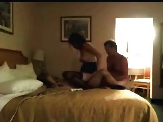 Wife And Husband Enjoying Sex At Hotel
